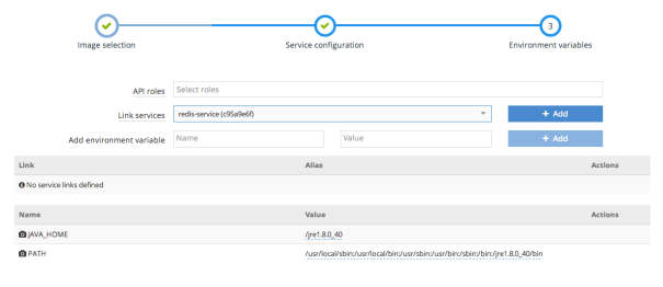 Link to redis service